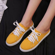 Women's Casual Comfy Canvas Sneakers Flats Slippers