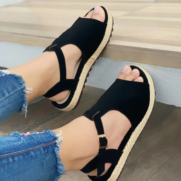Women's Round Toe Flat Heel Sandals