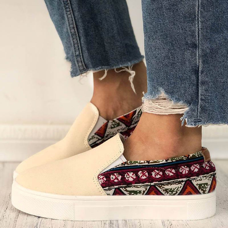 Women's Comfy Canvas Slip On Skate Shoes