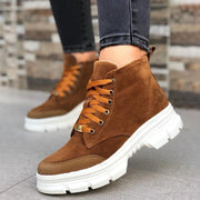 Women's Casual Lace-up Suede Ankle Boots