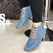 Women's Comfy Casual Lace-up Suede Ankle Boots