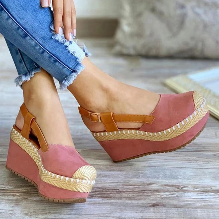 Women's Slingback Wedges Heeled Platform Sandals