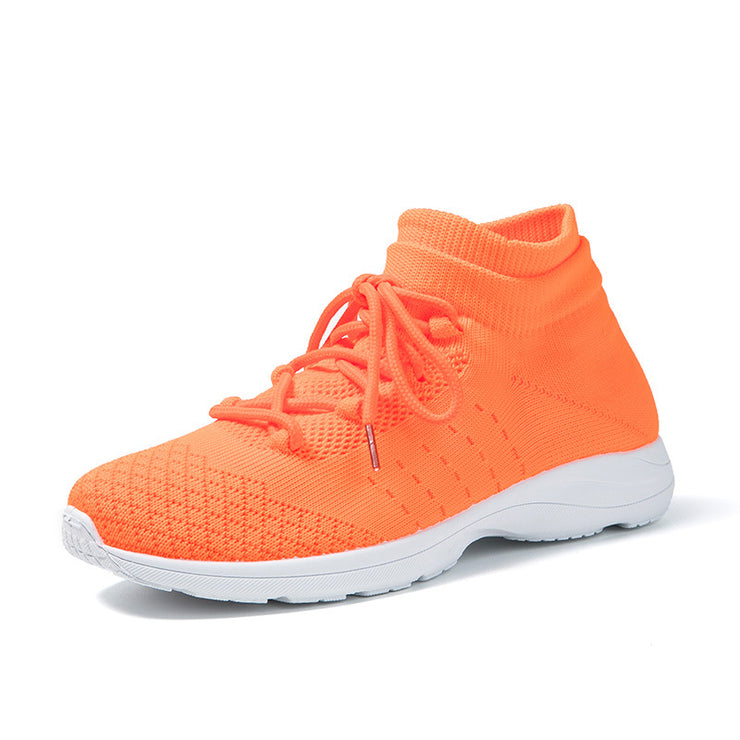Women's Fluorescent Soft Bottom Breathable Casual Socks Sneakers