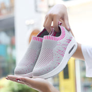 Women's Soft Casual Flying Woven Air Cushion Socks Sneakers