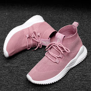 Women Breathable Mesh Lace Up Lightweight Sport Running Shoes