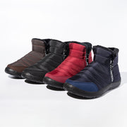 Women's Side Zipper Waterproof Cloth Large Size Snow Boots With Warm Lining