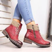 Women's Casual Daily Lace Up Ankle Boots