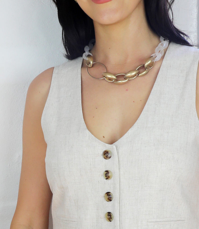 NE2021644G-GABI NECKLACE- GOLD