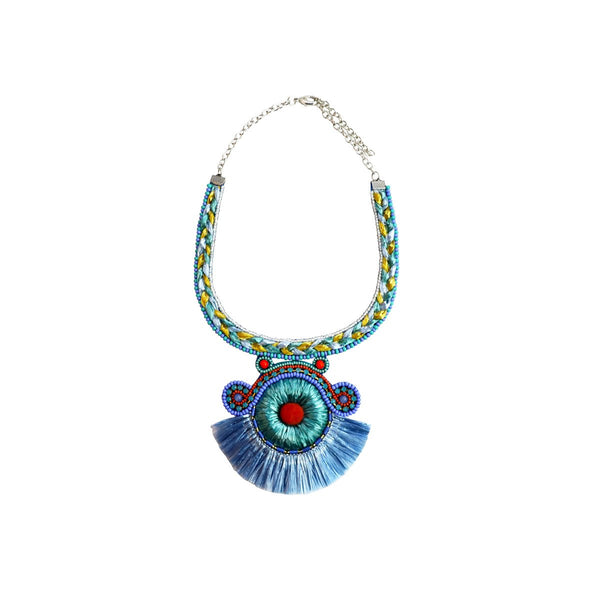 Tacy Necklace-N48901-Turquoise