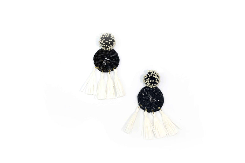 Josy Earrings-DG55045-Blackwhite