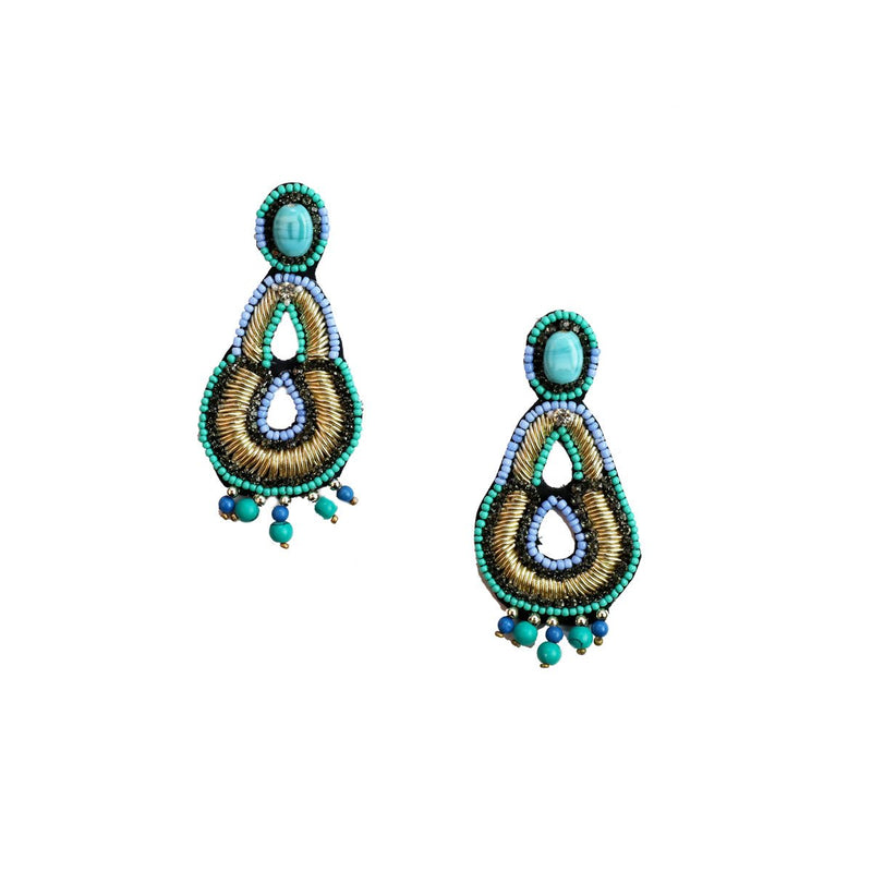 Lima Earrings-SK726-Turquoise