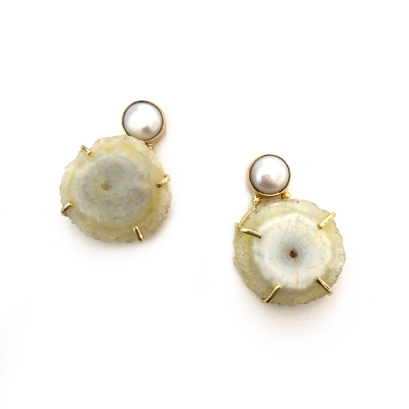 Nadia Earrings-FJEA10146-Yellow