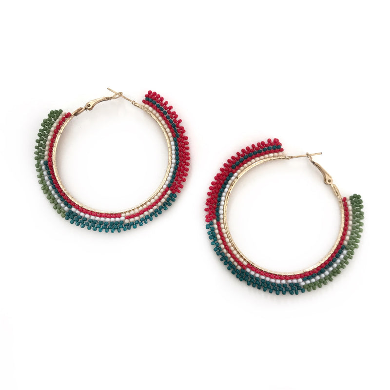 Jessica Earrings-FJEA8461-Red