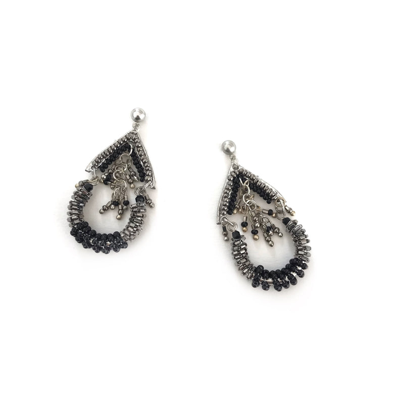 Sylvia Earrings-LX4189-Silver
