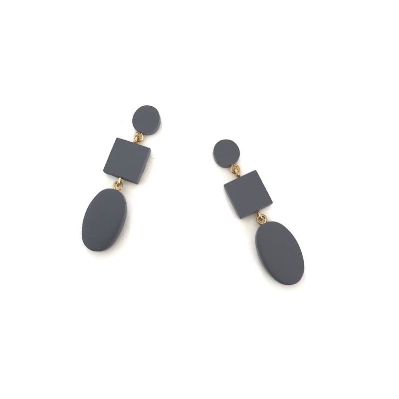 Xi Earrings-SE2690-Grey