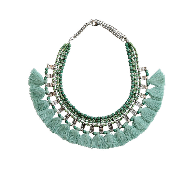 VC57-GR - FALINA NECKLACE - Green