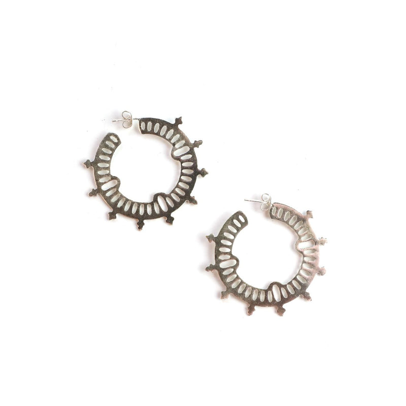 Silaha Earrings-EER3926-Silver