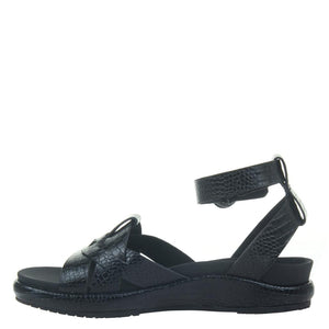 NAKED FEET - LIMON in BLACK Wedge Sandals