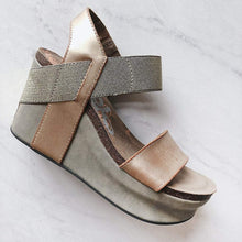 Load image into Gallery viewer, OTBT - BUSHNELL in GOLD Wedge Sandals