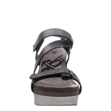 Load image into Gallery viewer, OTBT - WAVEY in NEW BLACK Wedge Sandals