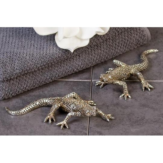 Gecko Large Silver/Antique coloured 2 Assorted £14.25