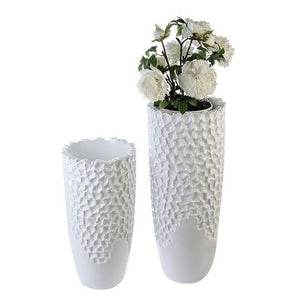 Marlow Large Fibre Glass White Planter £131