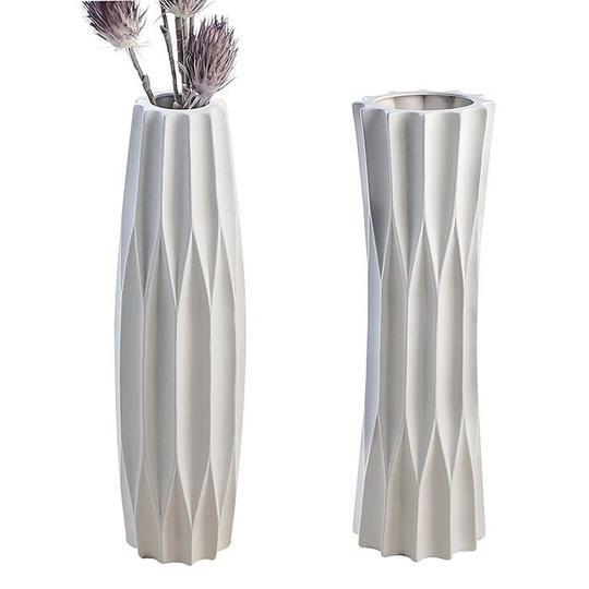Geometric Small White Vase Matt £13.15