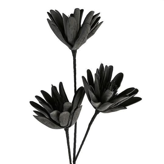 """Raven"" Black Spike Foam Flower 3 Head £8.75"