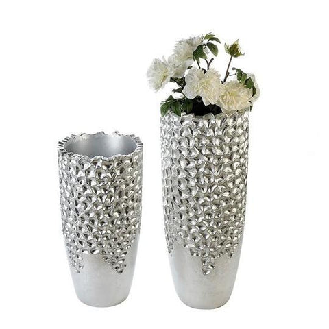 Marlow Small Fibre Glass Silver coloured Planter £94.95