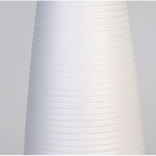 Mirage Medium ceramic White Matt Groove Vase £17.55