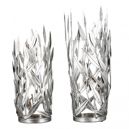 """Fensso"" Leaf Candle Holder Silver Small £18.65"