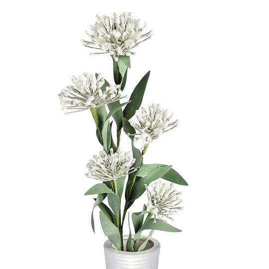 Artificial Plant white/Green £1.90