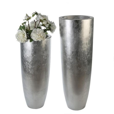 Rocco Large Fibre Glass silver coloured Planter £153