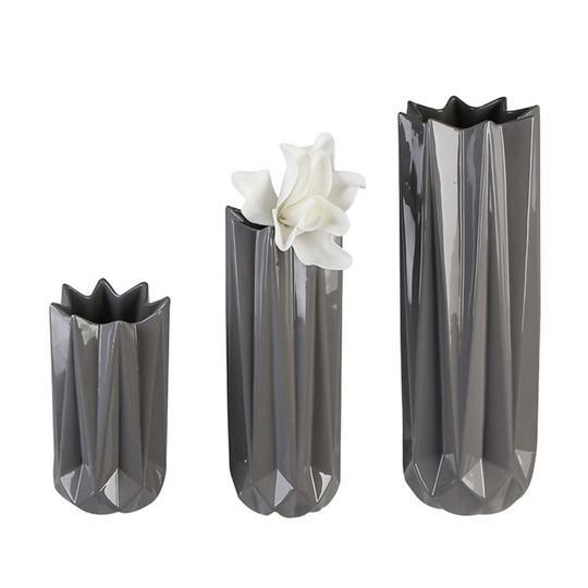 """Blush"" Dark Grey Small Vase £6.00"