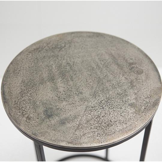 Nest of 3 Circular Aluminium Tables £148