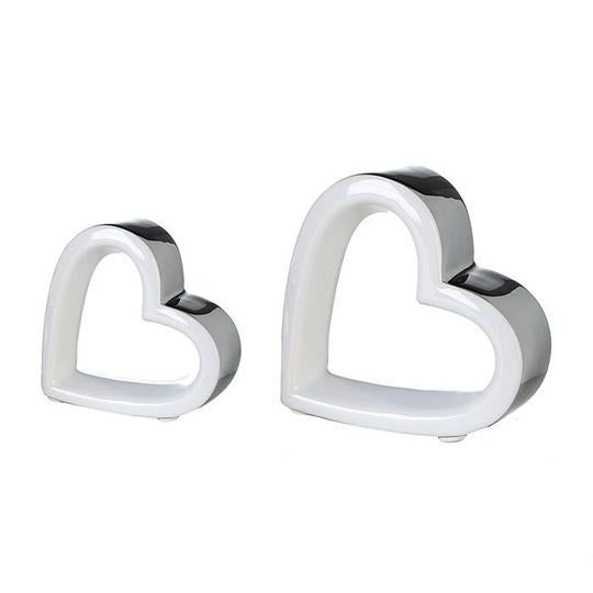 Mya Large White/Silver Heart £3.70