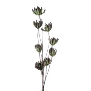 Green/Brown Foam Flower with 8 Blossoms £8