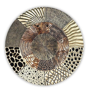 """Glorious"" Gold/Copper/Black Wall Decor £274 In Stock"