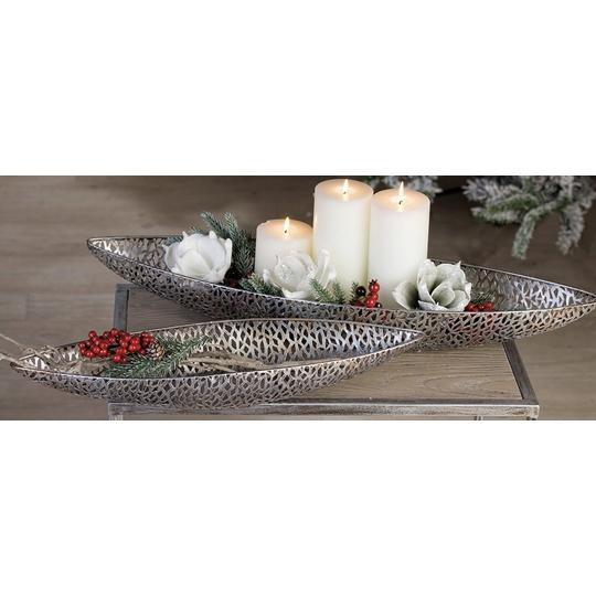 Maze Small Silver Metal long Dish £13.15