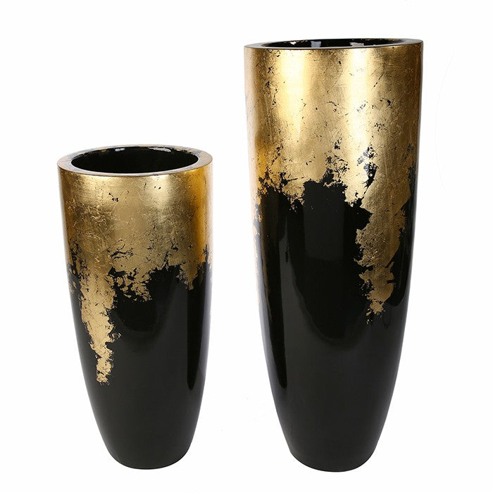 """Milan"" Black/Gold Planter Large £130"