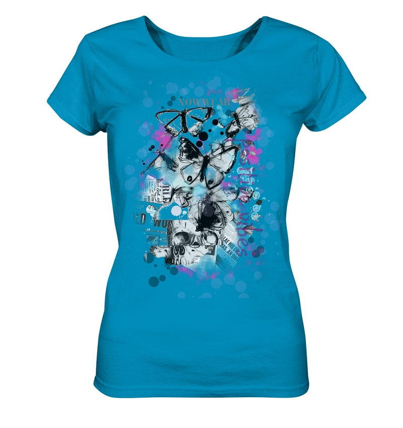 Butterfly T-Shirt - Ladies Organic Shirt - noWWear by Pink Tattoo