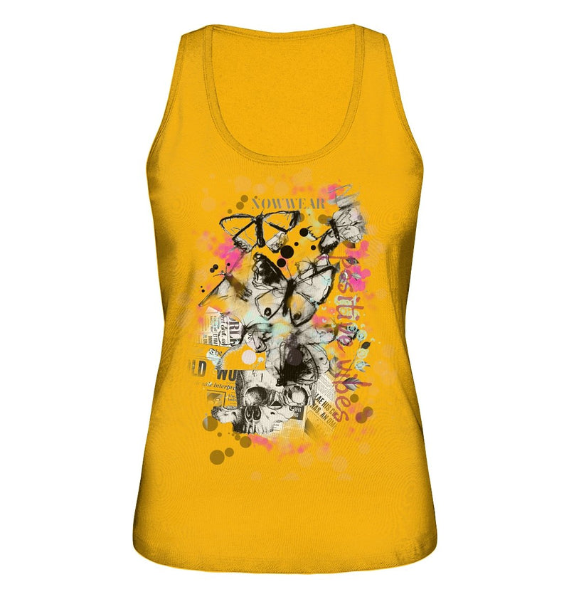 Butterfly Tank-Top - Ladies Organic Tank-Top - noWWear by Pink Tattoo