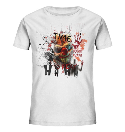 Horror Clown Kinder Shirt - Kids Organic Shirt - noWWear by Pink Tattoo