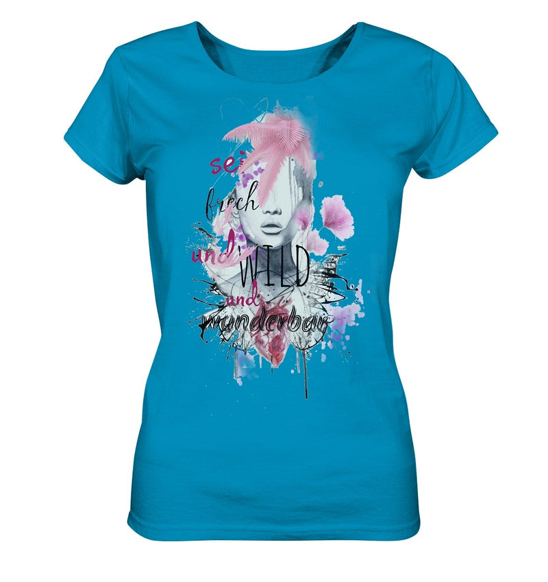 Wunderbar T-Shirt - Ladies Organic Shirt - noWWear by Pink Tattoo