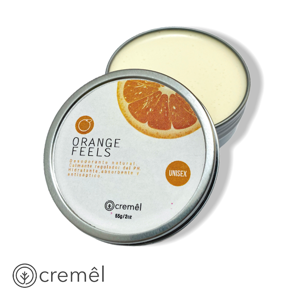 Orange Feels - Desodorante en Crema Libre de Quimicos (55g)
