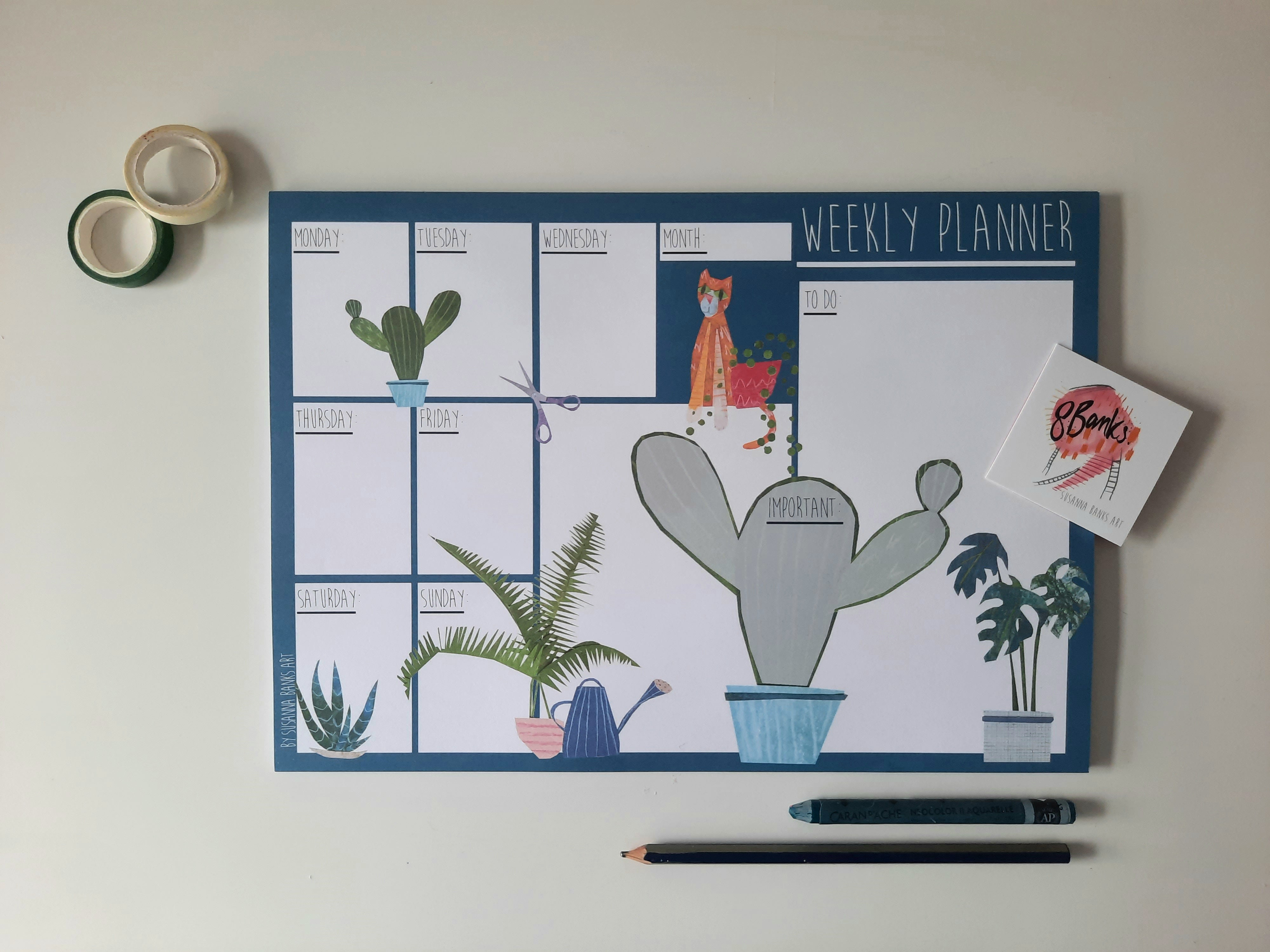 A4 Weekly Planner - Blue