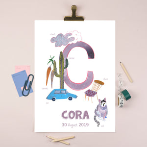 Personalised Alphabet Print (Letter C)