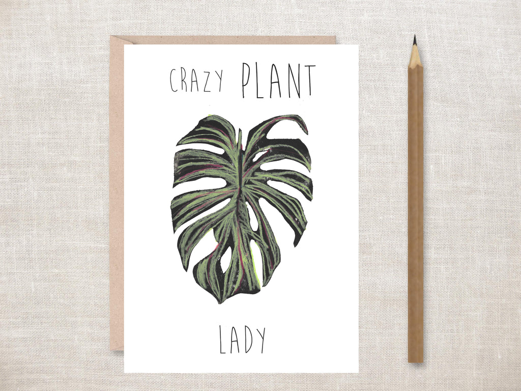'Crazy Plant Lady' Greeting Card