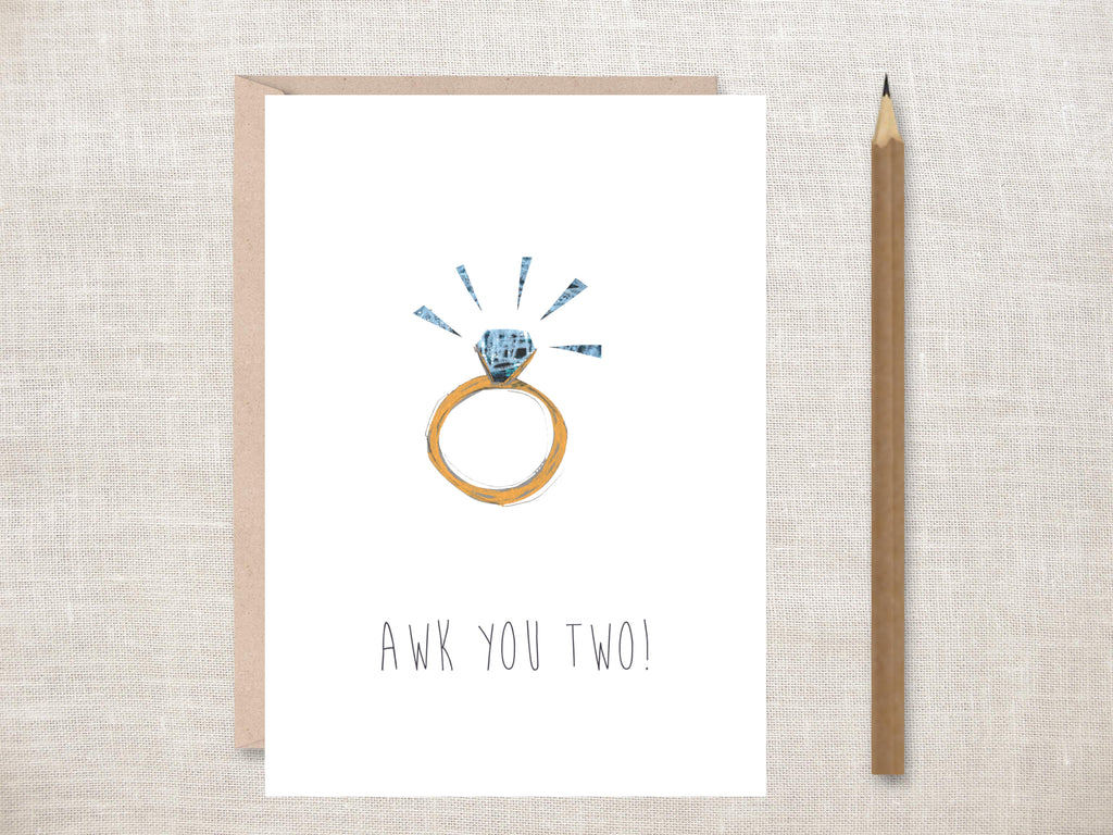 'Awk You Two' Greeting Card
