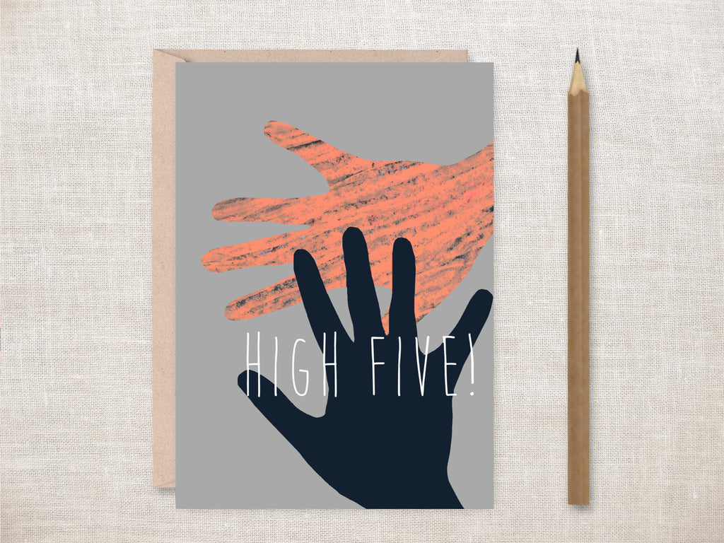 'High Five' Greeting Card
